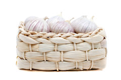 Free Garlic In The Wicker Box Royalty Free Stock Image - 17412566