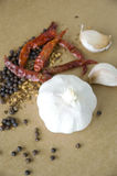 Garlic with ingredient Stock Photo