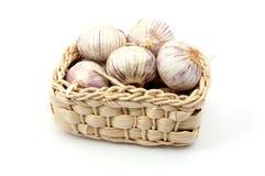 Garlic isolated on white Stock Photos