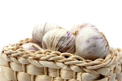 Garlic isolated on white Stock Image
