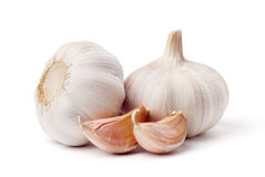 Garlic isolated on white background. Garlic set isolated on white background royalty free stock photos
