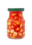 Garlic jar Royalty Free Stock Photography