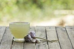 Garlic juice royalty free stock photography