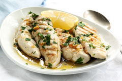 Garlic and Lemon Chicken Stock Photography