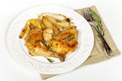 Garlic, Lemon and Rosemary Roasted Chicken Stock Images