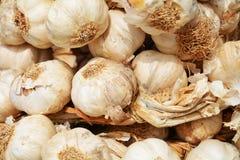 Garlic levels background stock photos
