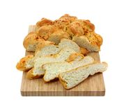 Garlic Loaf Slices Front View Stock Photography