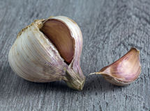 Garlic, macro Stock Photo