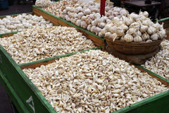 Garlic at the market Royalty Free Stock Photography