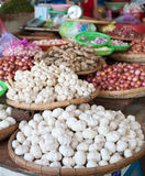 Garlic at market Stock Images