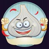Garlic Mascot. Cartoon illustration of garlic mascot for your product mascot Royalty Free Stock Photo
