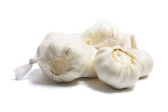 Garlic in Mesh Bag Royalty Free Stock Photo