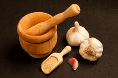 Garlic and Mortar Royalty Free Stock Images