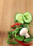Garlic,mushroom Stock Photography