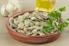 Garlic mushrooms Royalty Free Stock Photo
