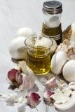 Garlic mushrooms recipe Royalty Free Stock Image