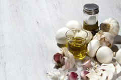 Garlic mushrooms recipe Royalty Free Stock Photos