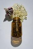 Garlic oil capsules Stock Image