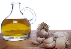 Garlic and olive oil Stock Photo