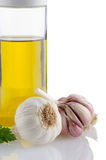 Garlic and olive oil Stock Image