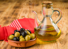 Garlic olive oil and onions Royalty Free Stock Photos