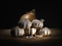 Garlic & Onion Stock Photo