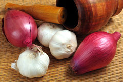 Garlic and onion Stock Image