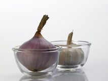 Garlic and onion Stock Images