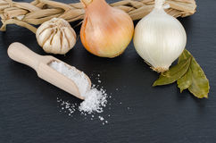 Garlic and onion Stock Photos