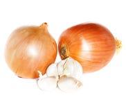 Garlic and onion Royalty Free Stock Image