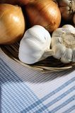 Garlic and onions Royalty Free Stock Image