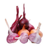 Garlic and Onions Stock Images