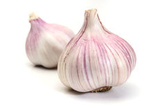 Garlic over a white background Stock Image