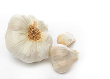 Garlic over a white background Royalty Free Stock Image