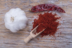 Garlic and Paprika Royalty Free Stock Photography