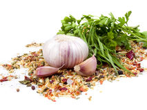Garlic and  parsley Stock Image
