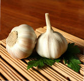 Garlic and parsley Royalty Free Stock Photography
