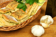Garlic and parsley buns Stock Photography
