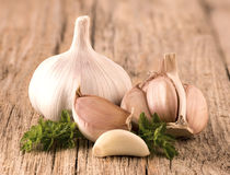 Garlic with parsley Stock Images