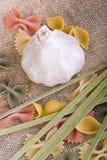 Garlic and Pasta Stock Photography