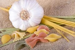 Garlic And Pasta Stock Images