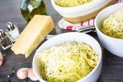 Garlic pasta Stock Image