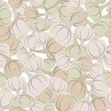 Garlic pattern. Seamless background with beige garlic. Vector te Stock Photo