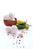 Garlic and peper Royalty Free Stock Photography