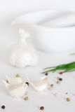 Garlic and pepper Royalty Free Stock Images