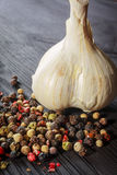 Garlic and pepper Stock Image