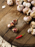 Garlic and pepper Royalty Free Stock Photo