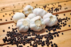 Garlic and pepper Royalty Free Stock Image