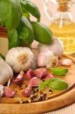 Garlic & Peppercorns Stock Images