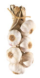 Garlic plait isolated Stock Photo
